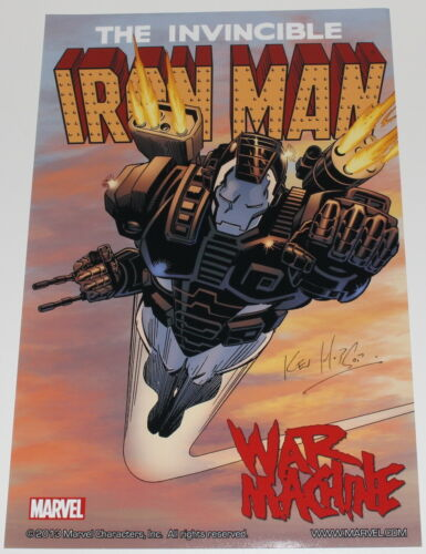 KEV HOPGOOD SIGNED THE INVINCIBLE IRON MAN 11x17 POSTER w/COA COMIC BOOK ARTIST
