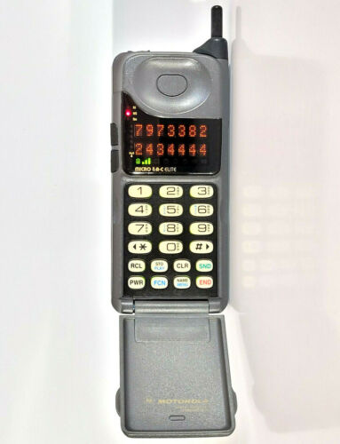 MOTOROLA MICROTAC ELITE - BRICK CELL PHONE MOBILE TELEPHONE VINTAGE RETRO