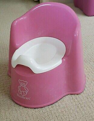 BABY BJORN Potty Chair Toddler Toilet Training Seat Splash Guard Pink SANITIZED