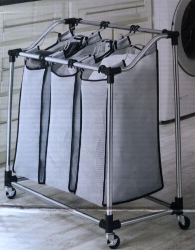 WHITMOR 6862-3260 Chrome Laundry Sorter Mesh Bag Basket