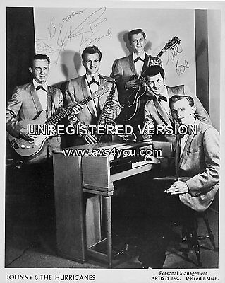 """Johnny and the Hurricanes 10"""" x 8"""" Photograph no 3"""