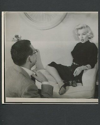 Rare Marilyn Monroe 1953 Vintage Photo Interview