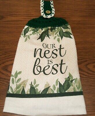 Double Sided Crocheted Top Our Nest Is Best Dish Hanging Towel