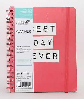 New Yoobi Planner Undated Best Day Ever Monthly And Weekly