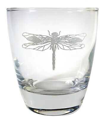 Personalized Rocks Glasses (Dragonfly Clear Lowball Rocks Glass 10oz - Free Personalized)