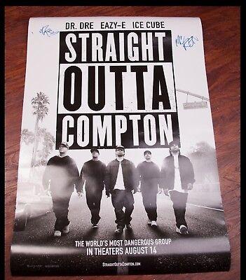 GFA N.W.A. DJ Yella MC Ren * STRAIGHT OUTTA COMPTON * Signed Movie Poster COA