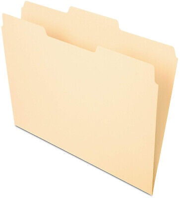 100 Ct File Folders Manila 13 Cut Straight Top Tab Letter Size Office Pendaflex