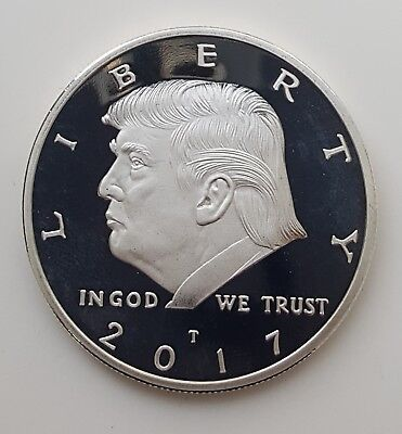 Donald Trump Silver Coin MAGA Mike Pence Melania Ivanka Baron Twitter Towers USA