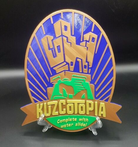 Kuzcotopia Complete with Water Slide Inspired Sign / Plaque - ( New Groove )