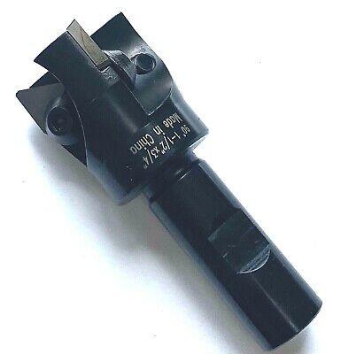 90 Deg Indexable End Mill - 1-12 X 34 Shank - 3 Tpg-32 Inserts - 3 Flute