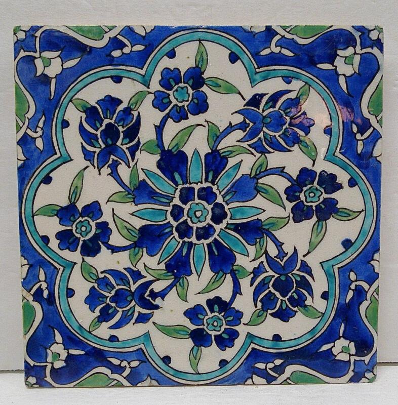 Vintage Floral Tile from Spain