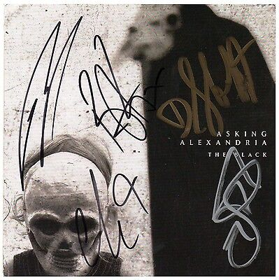ASKING ALEXANDRIA The Black Ltd Ed Hand Signed By All 5 RARE New CD Booklet!