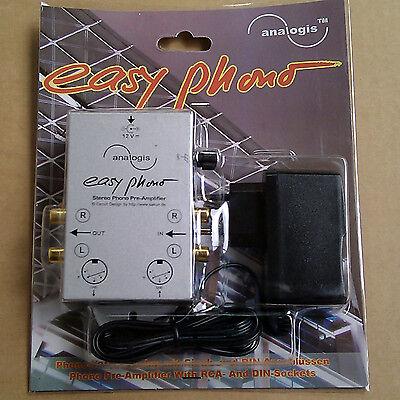 """Phono-Vorverstärker / Entzerrer """"Easy Phono"""" Zum Anschluß von Plattenspieler OVP"""