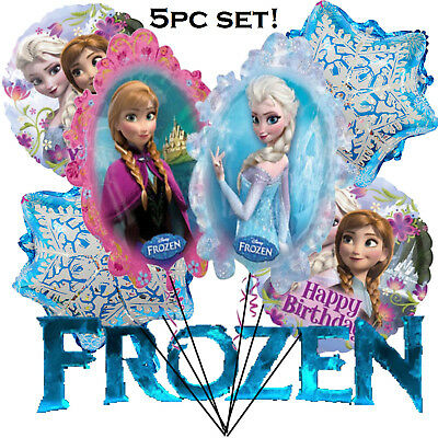 5 Pcs. Combo FROZEN ANNA ELSA Balloons !! Awesome Birthday Party Decoration](Frozen Birthday Party Decorations)