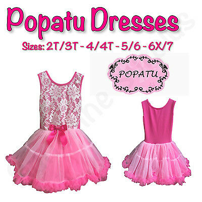 Girl Dress Sale (NEW POPATU GIRL'S PINK DESIGNER DRESS WITH LAYERED TUTU - BACK TO SCHOOL)