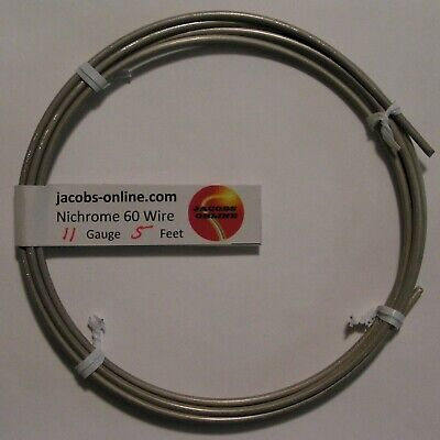 Nichrome 80 Resistance Wire 11 Awg Gauge 5 Feet