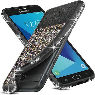 For Samsung Galaxy J3 Prime/J3 Luna Pro/J3 Emerge Case Bling Glitter Phone Cover