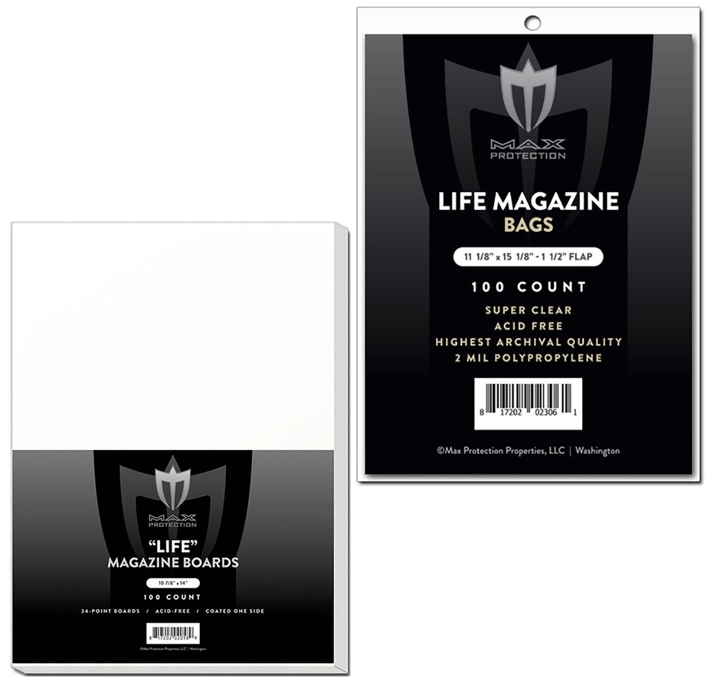 8-3//4 x 11-1//8 1000 Max Pro Ultra Premium Magazine Bags Acid Free Archivals