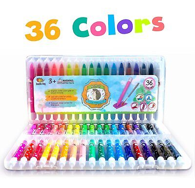 36 EXTRAORDINARY BOLDER CRAYONS 3-1 Pastel And Watercolor Effects Kids/Toddlers - Toddler Art Supplies