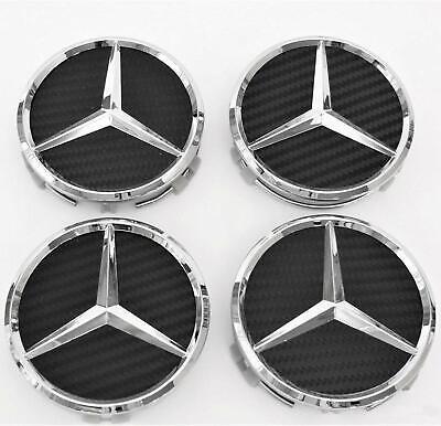 4 X 75 mm Carbon Schwarz Mercedes Benz Nabendeckel Radnaben Nabenkappen Radkappe online kaufen