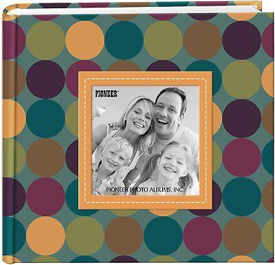 """Pioneer Photo Album 4""""X6"""", 2-Up, 200 Memo Pocket Designer Raised Frame Photo Alb"""