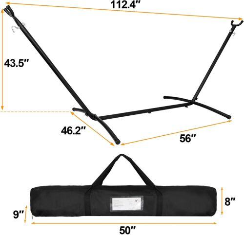 Heavy Duty Hammock Stand Portable Stand for Hanging Chair with Carrying Case Hammocks