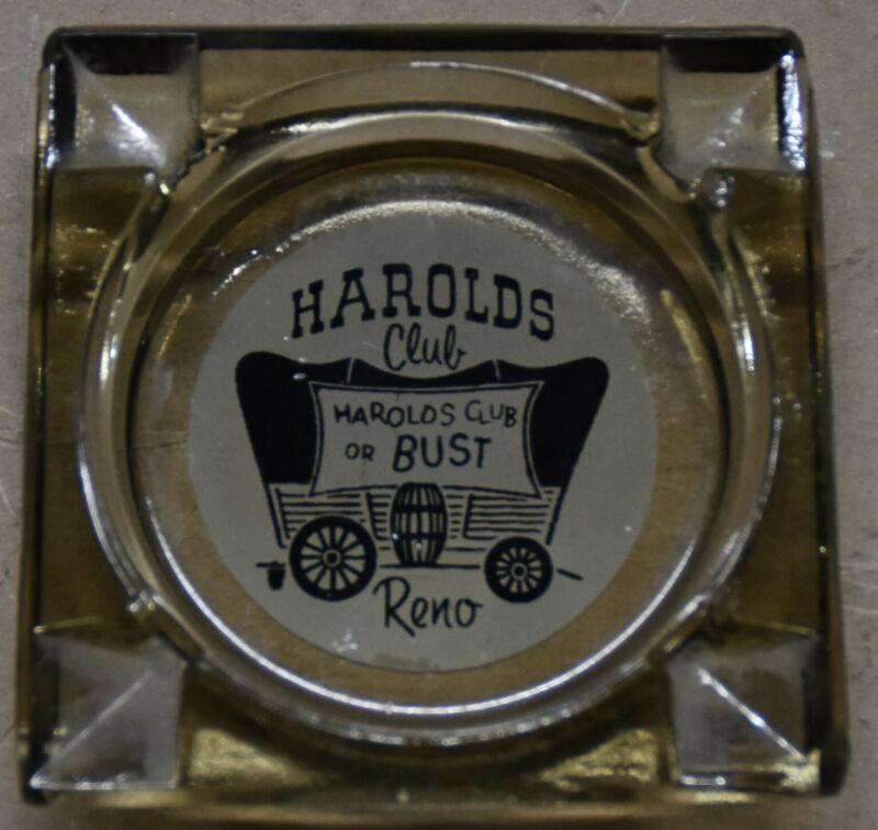Unusual Vintage Harolds Club Ashtray