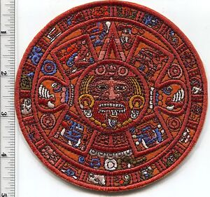 Aztec - Maya Sunstone Calendar - 2012 End of the World Patches