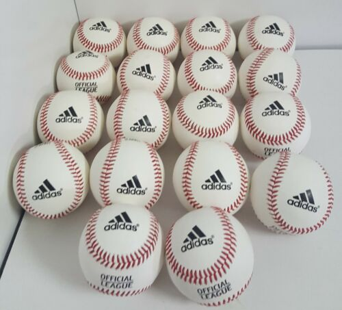 18 NEW LEATHER BASEBALLS Adidas Official League Baseballs GAME BATTING FIELDING