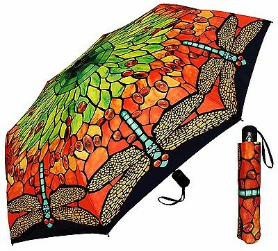 "42"" Tiffany Lamp Shade Auto-Auto Mini Umbrella - RainStoppers Rain/Sun UV"