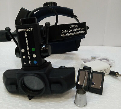 Indirect Ophthalmoscope Wireless Rechargable With Carry Bag Accessories