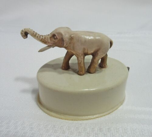 Antique Tape Measure Celluloid Elephant Raised Trunk Germany