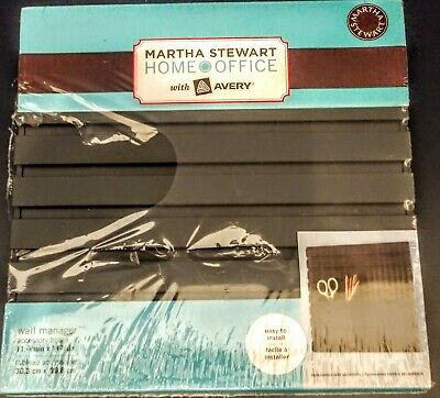 Black Martha Stewart With Avery Home Office Wall Manager Accessory -12 X 12