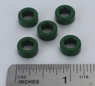 5pcs Inductor Coil Green Toroid Ferrite Cores Anti-interference Pc40 Usa