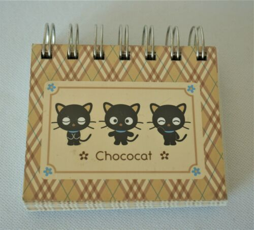Chococat Spiral Address Book Sanrio Perforated Contact Cards RARE 2000