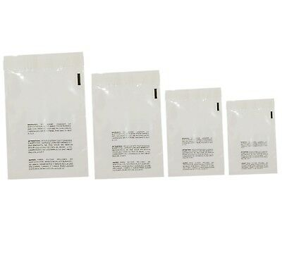 400 Clear Poly Bags Combo Pack With Suffocation Warning - 6x9 8x10 9x12 11x14