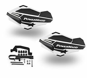 PowerMadd Sentinel Handguards Guards Kit White Black Snowmobile Snow Hayes