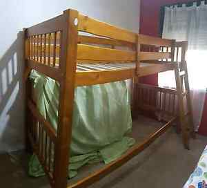 Single bunk bed - wooden - converts to two singles Jandakot Cockburn Area Preview