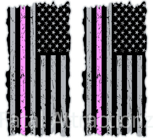 American Flag Pink Line Cornhole Cover Vinyl Decal sticker breast cancer