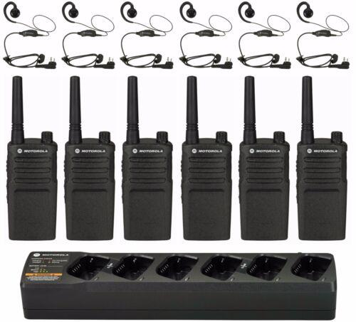 6 Motorola Rmu2040 Uhf Radios With Headsets & Bank Charger. Buy 6 Get One Free!!