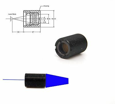 High Power 405nm-488nm Laser Diode Collimating Coated Focus Lensmp9x0.5x13mm