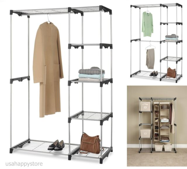 Lovely Whitmor Closet Organizer Systems Wardrobe Storage Rack Clothes Shelf  Hanging Rod