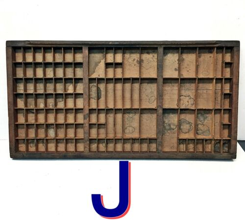 Vintage Printers Wooden Type Drawers Letterpress Case Wood Tray *J*
