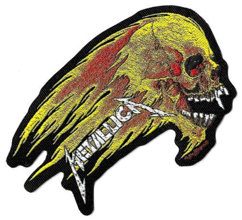 Metallica Flaming Skull Die-Cut Patch  [UK Import] Standard 10-centimeter Badge