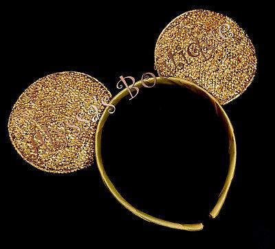 1 Minnie Mickey Mouse Ears Headband Shiny GOLD Birthday Party Costume DIY - Diy Mouse Ears