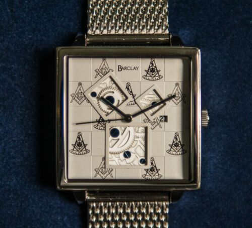 Barclay Past Master Masonic Watch - 10% to Shriners Hospitals - ONLY $69 + S&H
