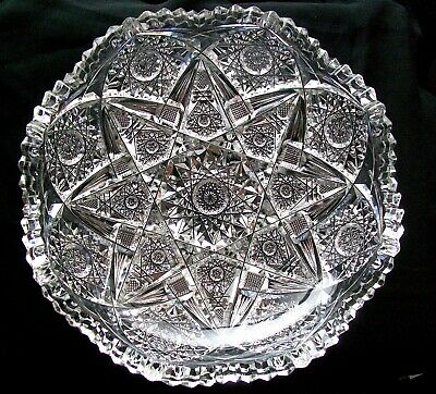 OUTSTANDING Hobstar Dominant Design Low Bowl Blown Blank