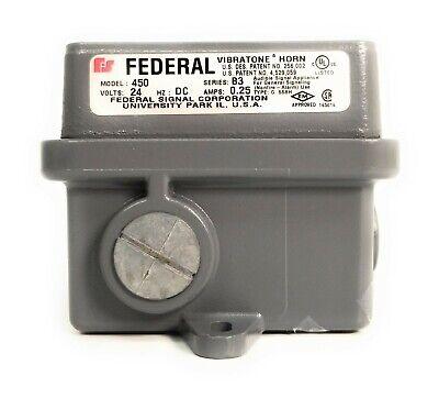 Federal Signal Division Vibratone Horn Model 450 Series B3 24v Hzdc .25amps Oem