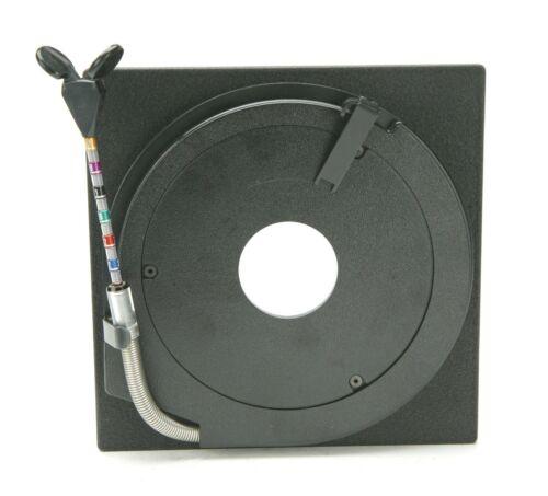 Sinar Black Lens Board W/Plastic Insert F/Copal Shutter #0 W/Aperture Adjuster.