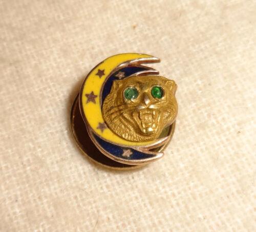 10K Gold Emerald Dramatic Order of the Knights of Khorassan Screwback Pin DOKK